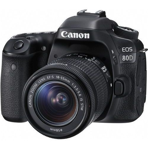 Canon EOS 80D Lens Kit - 24.2 MP, SLR Camera, 18 - 55mm IS STM (Black)