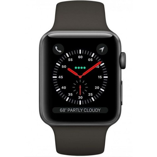 Apple Watch Series 3 - MR352 - GPS - 38mm Space Gray Aluminum Case with Gray Sport Band