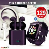 Artison smart watch and i7S Bluetooth Earpods