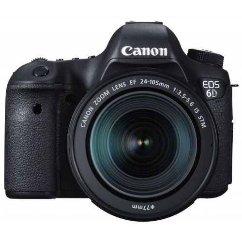 Canon EOS 6D - 20.2 MP, SLR Camera, 24 - 105mm STM Lens Kit (Black)