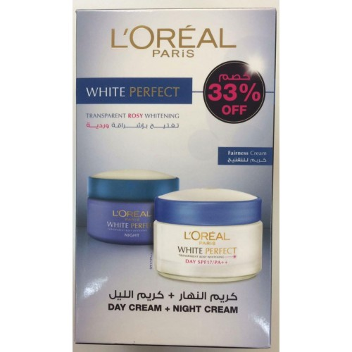 Loreal Paris White perfect transparent rossy whitening Day dream & Night cream
