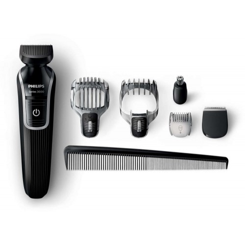 Philips QG3342 Multigroom series 3000 6-in-1 [Beard and Hair Trimmer , Cordless , fully washable , Skin-friendly blades]