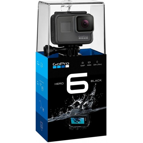 GoPro Hero6 -12 MP, 4K Ultra HD Action Camera (Black)