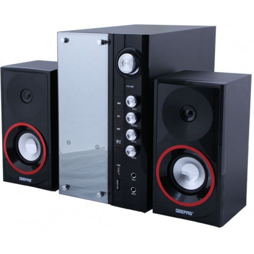 Home Thaeater System Geepas GMS8440 2.1 Channel (Black and Silver)