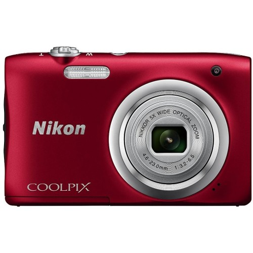 Nikon Coolpix A100 - 20 MP Compact Camera (Red)