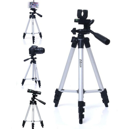Aluminum Adjustable Portable Tripod Stand+ Bag For Camera mini Projector