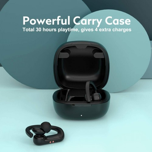Wireless Earbuds, QCY T6 Workout TWS, 5.0 Bluetooth Headphones with Mic, Black